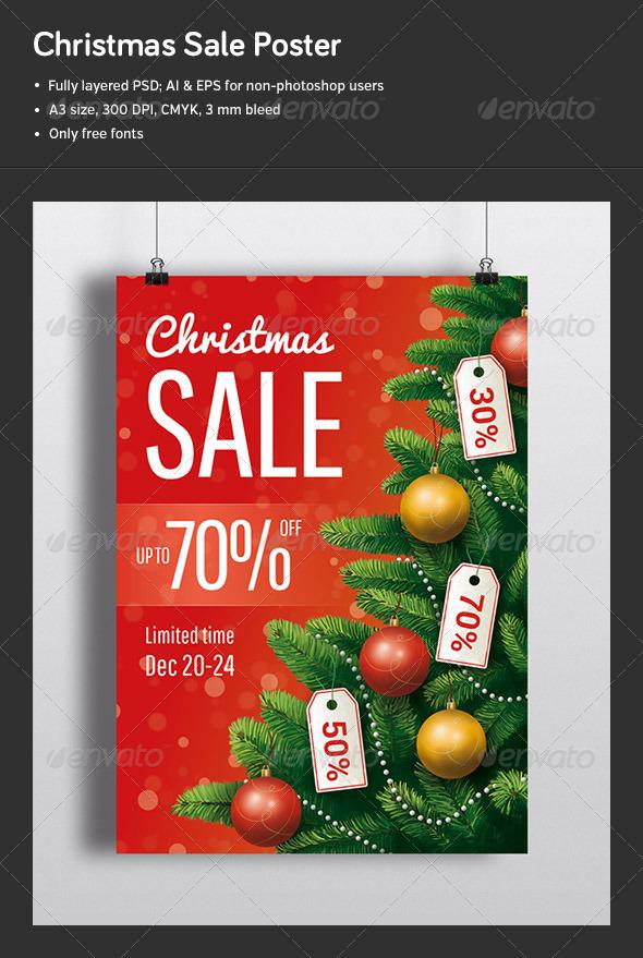 GraphicRiver Christmas Sale Poster 6317975