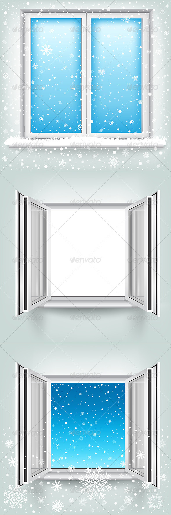 GraphicRiver Window and Snow 6318015