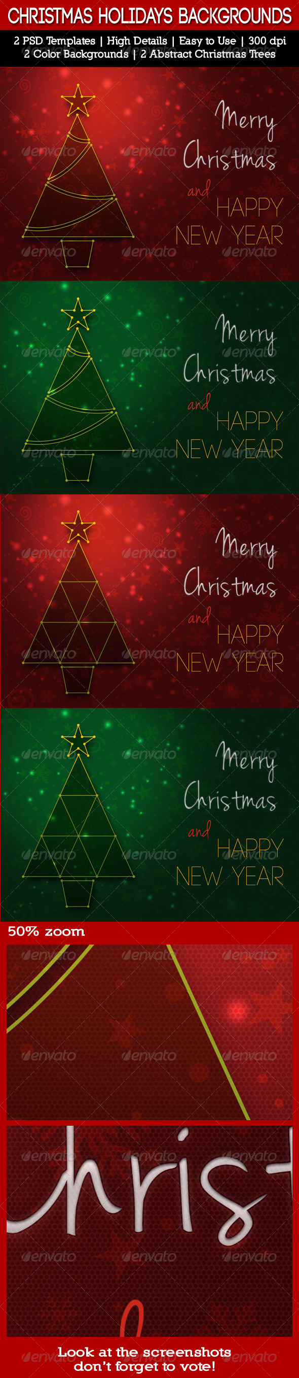 GraphicRiver Christmas Holidays Backgrounds 6318288