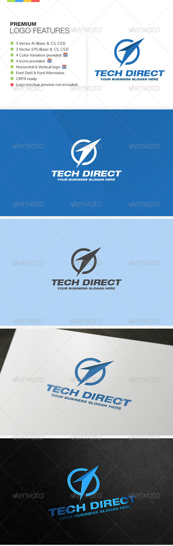 GraphicRiver Direct Technology Logo 6318312