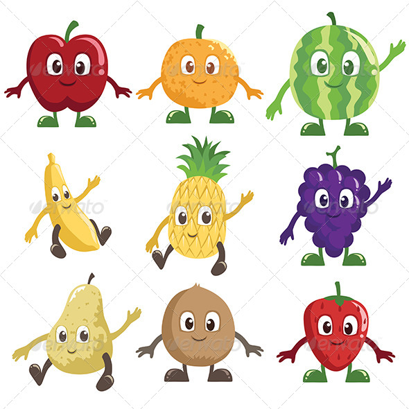 GraphicRiver Fruits Characters 6318830