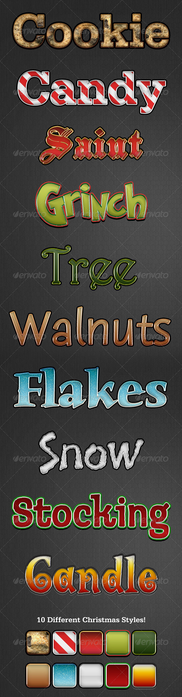 Holiday Style v2 - Text Effects Styles