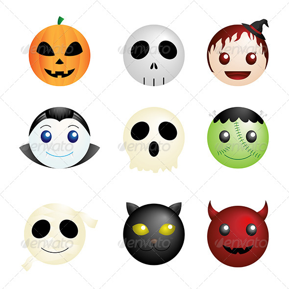 GraphicRiver Halloween Characters Icons 6318873