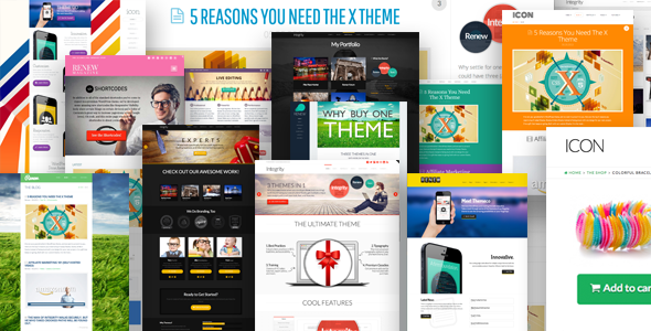 Theme de WordPress Totalmente Multifuncional: X The Theme