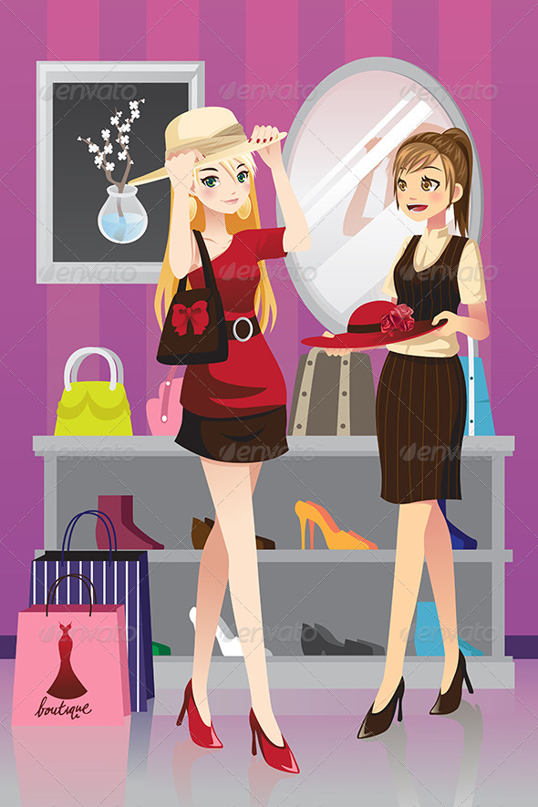 GraphicRiver Shopping Girls 6319116