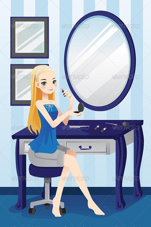 GraphicRiver Girl Applying Makeup 6319198