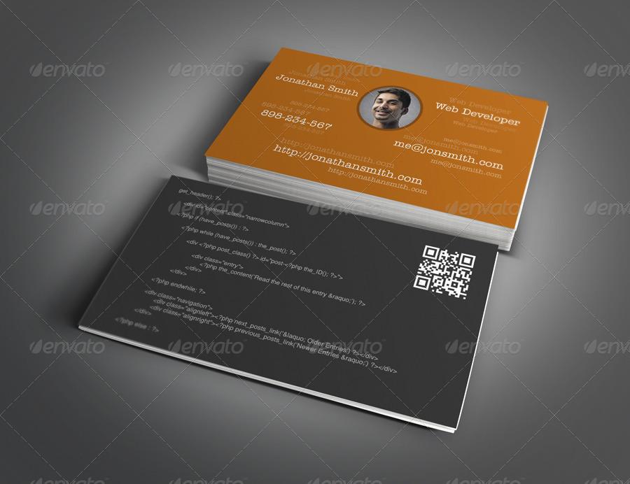 Web Designer & Developer Business Card Design by myboodesign ...