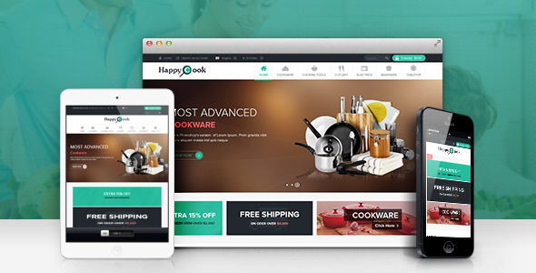 ThemeForest Lexus HappyCook Responsive Opencart Theme 6319229