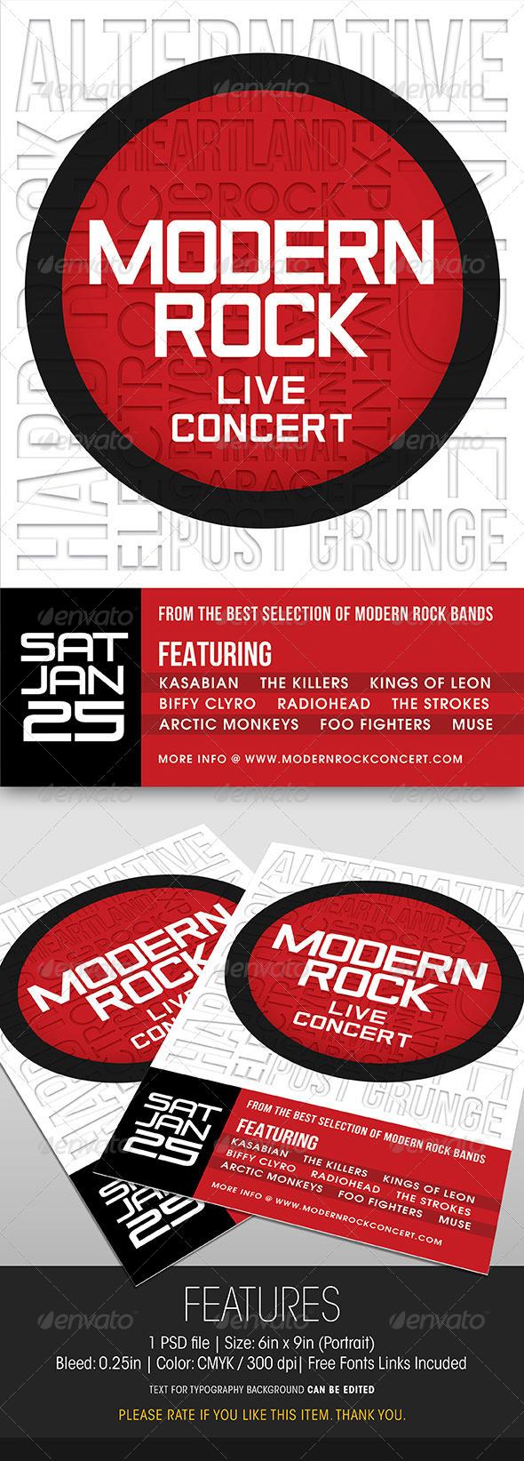GraphicRiver Modern Rock Concert Flyer 6319249