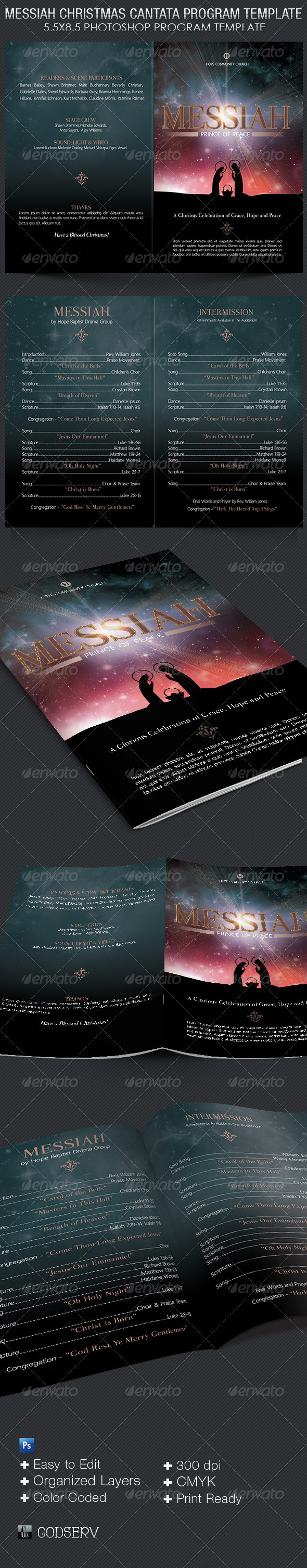 GraphicRiver Messiah Christmas Cantata Program Template 6319250