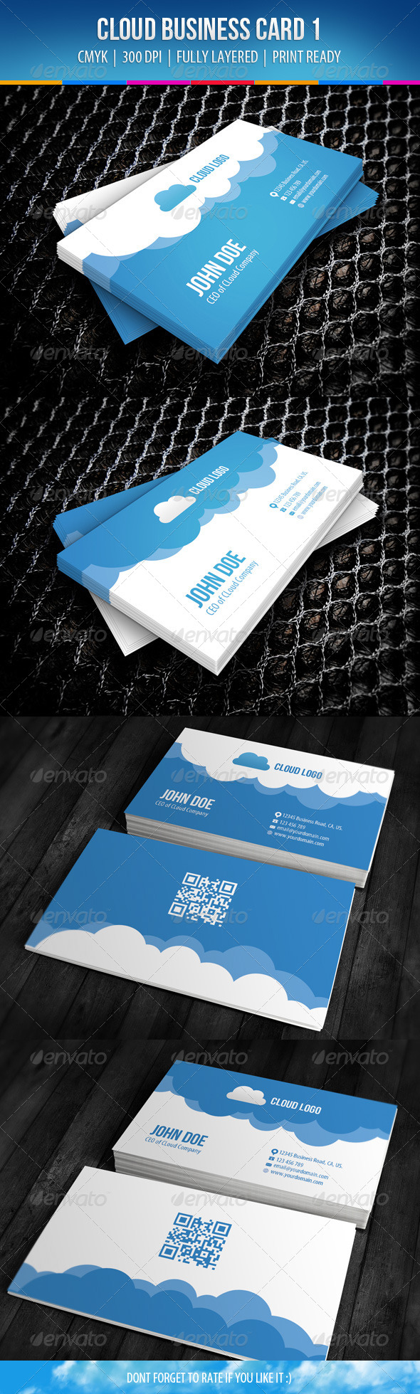 GraphicRiver Cloud Business Card Design 1 6319251