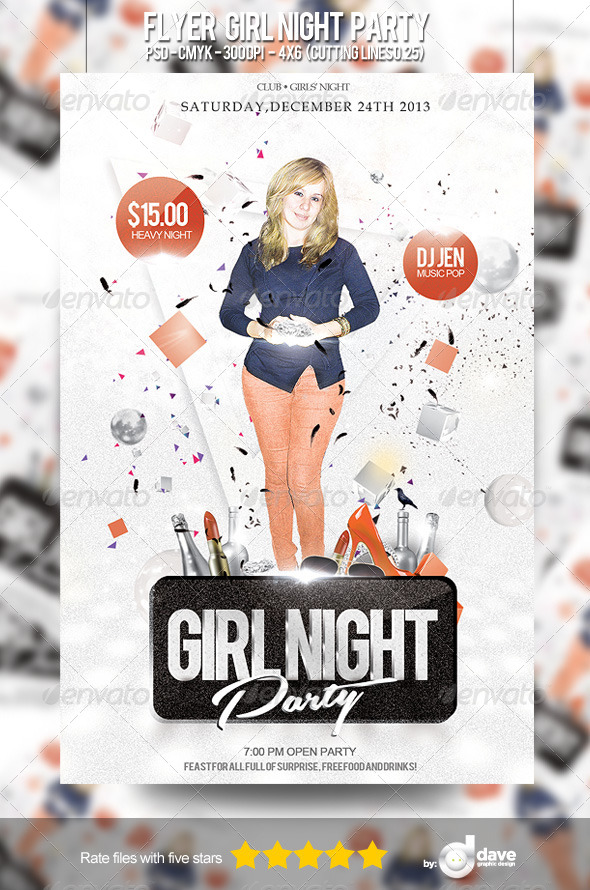 Flyer Girl Night Party - Clubs & Parties Events
