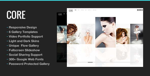 Theme para WordPress de Portafolio Minimalista: Core