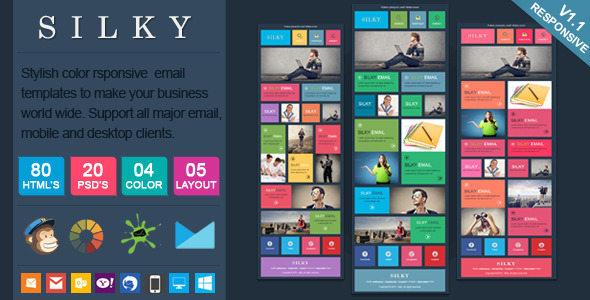 Silky - Colorful & Stylish Responsive Email - Newsletters Email Templates