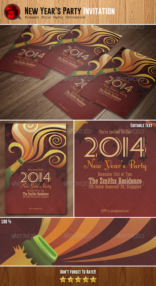GraphicRiver New Year s Party Invitation 6319599