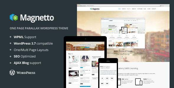 ThemeForest Magnetto Onepage Parallax WordPress Theme 6193996