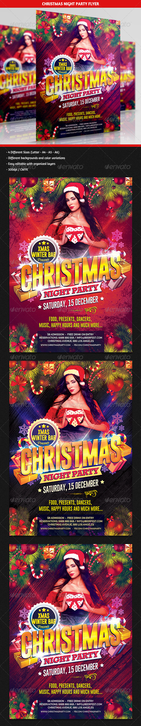 GraphicRiver Christmas Night Party Flyer 6319744