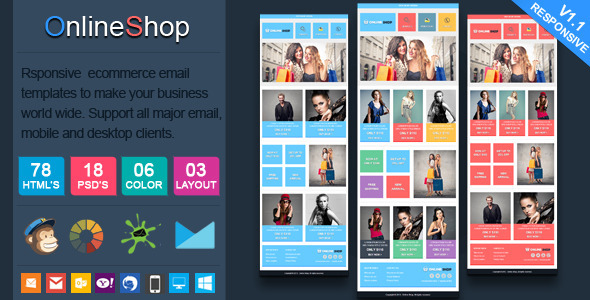 Online Shop - Responsive Ecommerce Email Template - Newsletters Email Templates