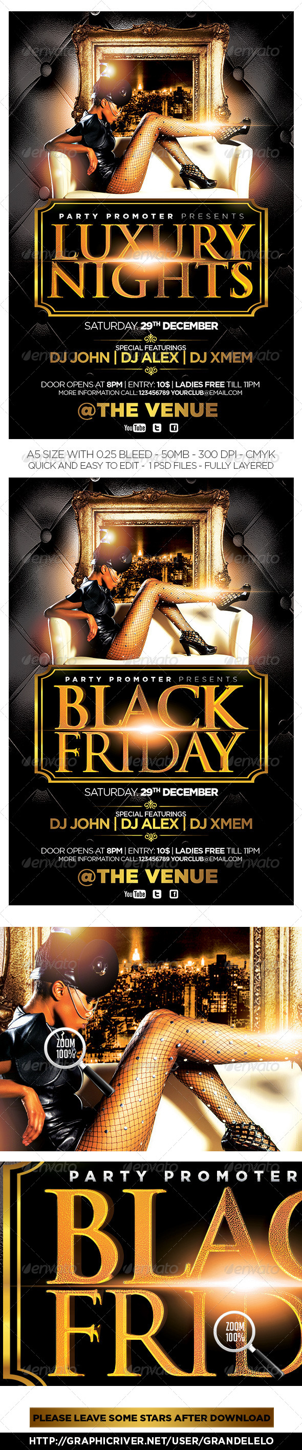 Luxury Nights / Black Friday Flyer