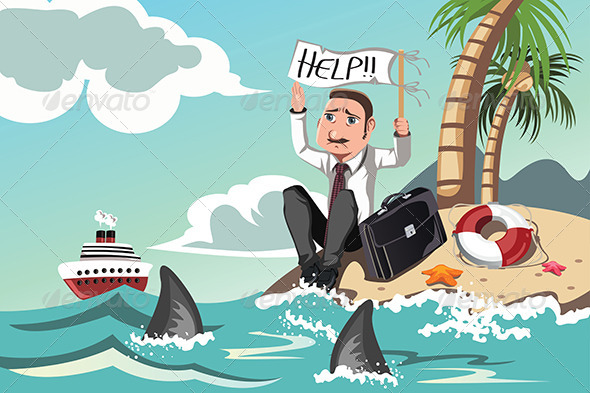 GraphicRiver Businessman Needs Help 6320218