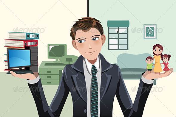 GraphicRiver Busy Businesswoman 6320225