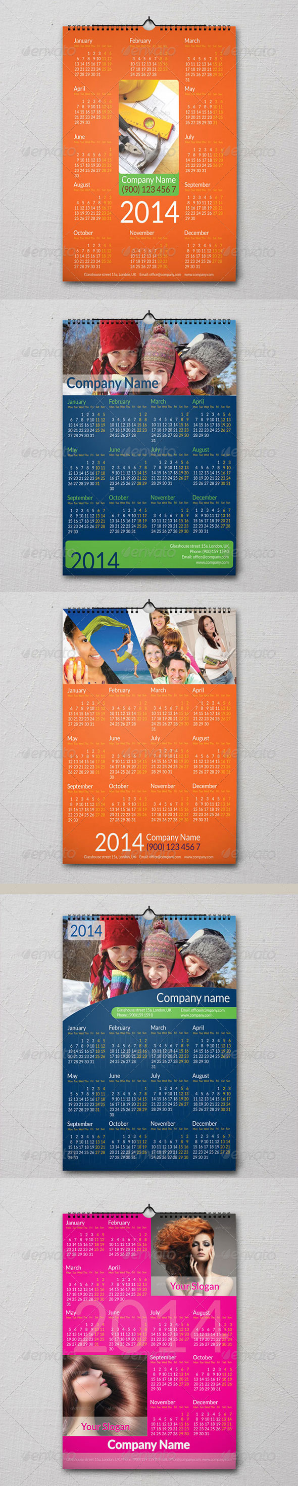 GraphicRiver 5 Calendars 6307859