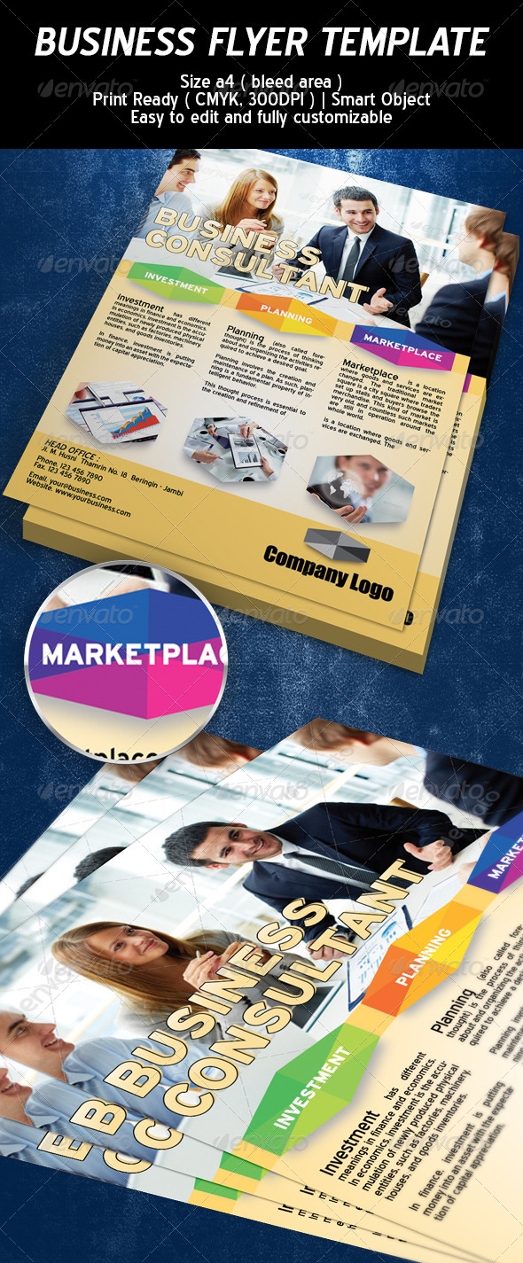 GraphicRiver Business Consultant Flyer Template 6320259