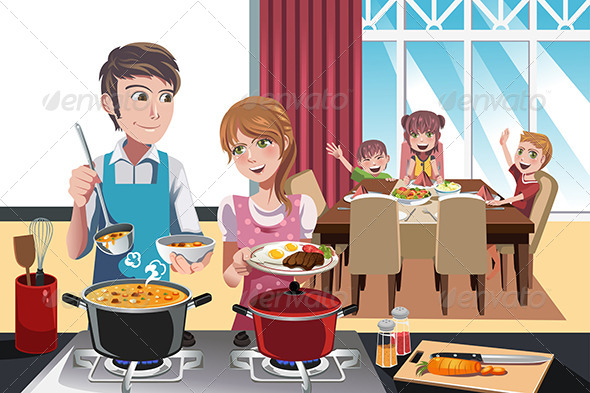 GraphicRiver Family Dinner 6320265