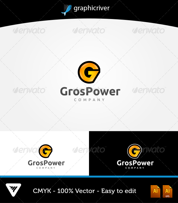 GraphicRiver GrosPower Logo 6316967