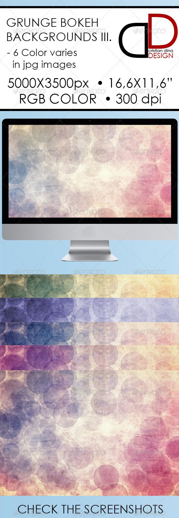 GraphicRiver Abstract Grunge Bokeh Backgrounds III 6320649