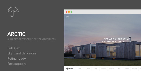 ThemeForest Arctic Architecture & Creatives WordPress Theme 6307436