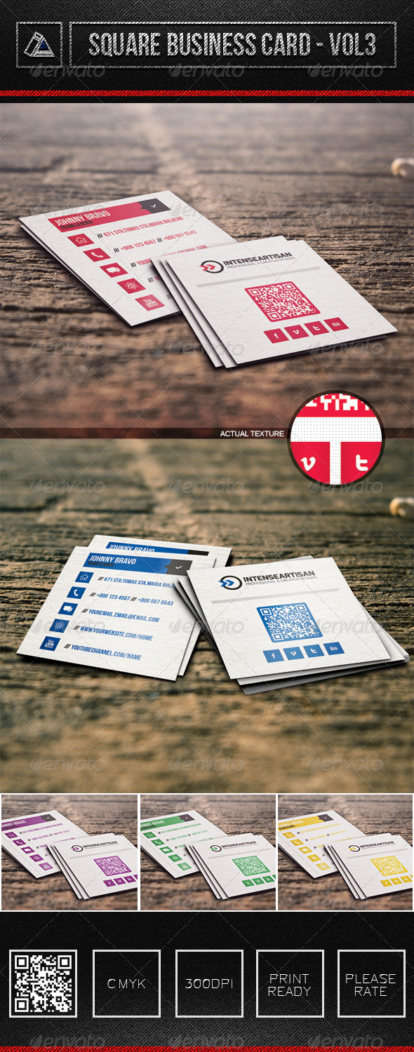 GraphicRiver Square Business Card Vol3 6320726