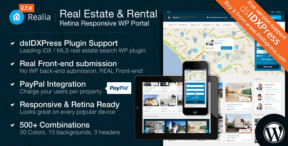 Realia - Responsive Real Estate WordPress Theme
