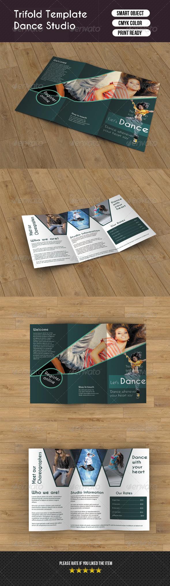 GraphicRiver Trifold Brochure- Dance Studio 6320943