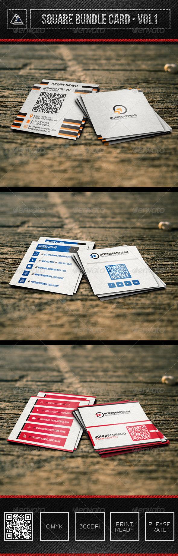 GraphicRiver 3in1 Square Bundle Card Vol1 6320954