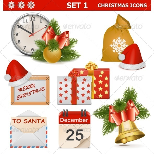 GraphicRiver Vector Christmas Icons Set 1 6321167