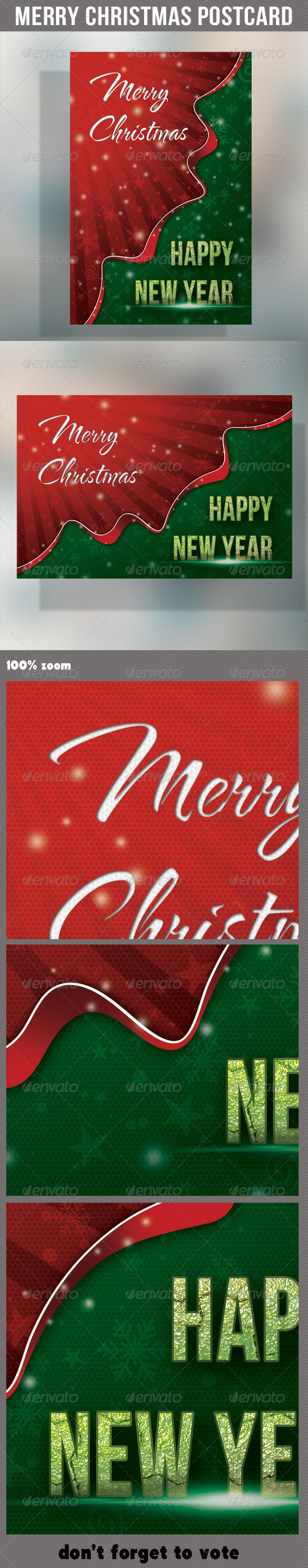 GraphicRiver Merry Christmas Holidays Postcard 6288730