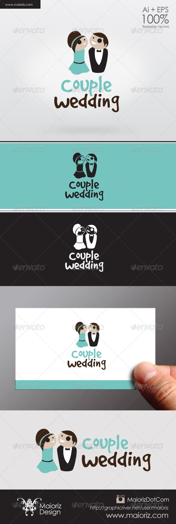 GraphicRiver Couple Wedding Logo 6321550