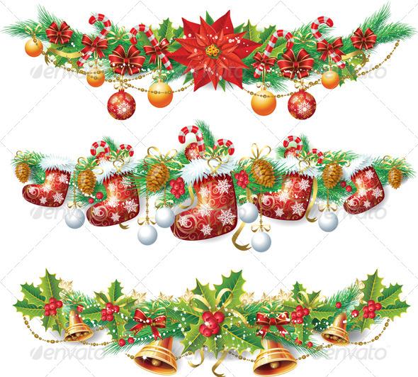 Vintage christmas template graphicriver for Weihnachtsgirlanden bilder kostenlos