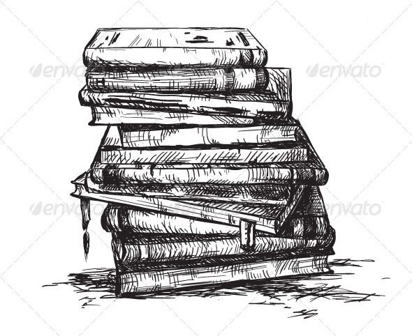 GraphicRiver A Pile of Books 6321706