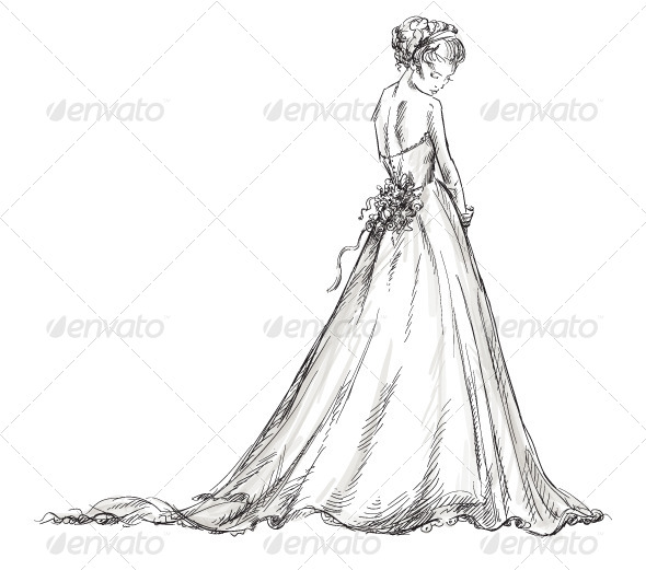 GraphicRiver Bride Girl in a Wedding Dress 6321845