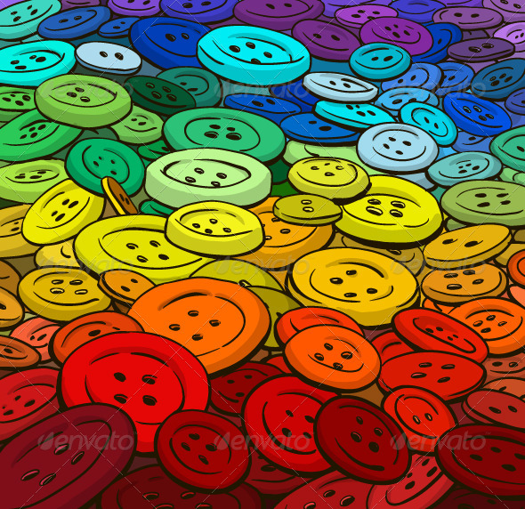 GraphicRiver Colorful Buttons Background Cartoon Style 6321862