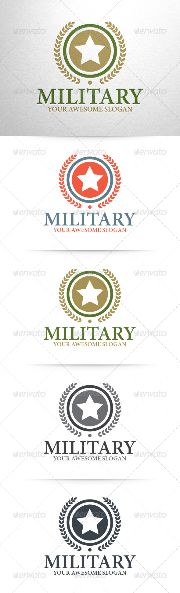GraphicRiver Military Logo Template 6321892