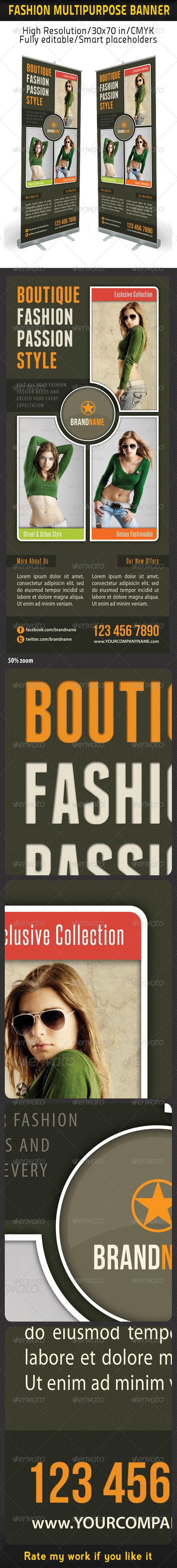 GraphicRiver Fashion Multipurpose Banner Template 20 6321982