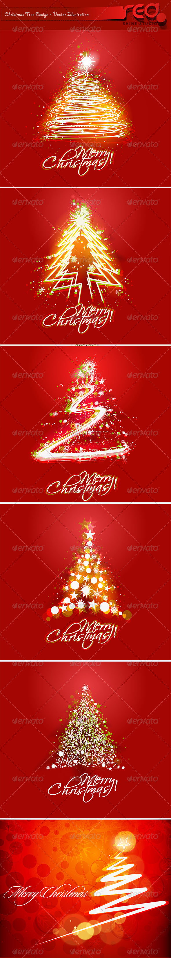 GraphicRiver Christmas Backgrounds Pack 6322175