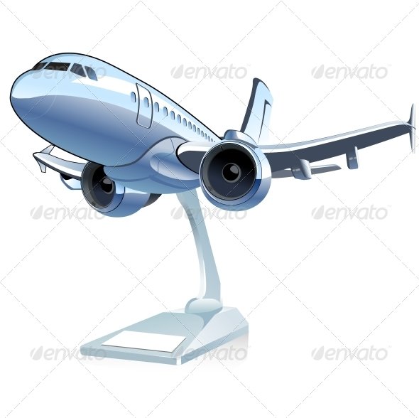 GraphicRiver Vector Cartoon Airliner 6322179