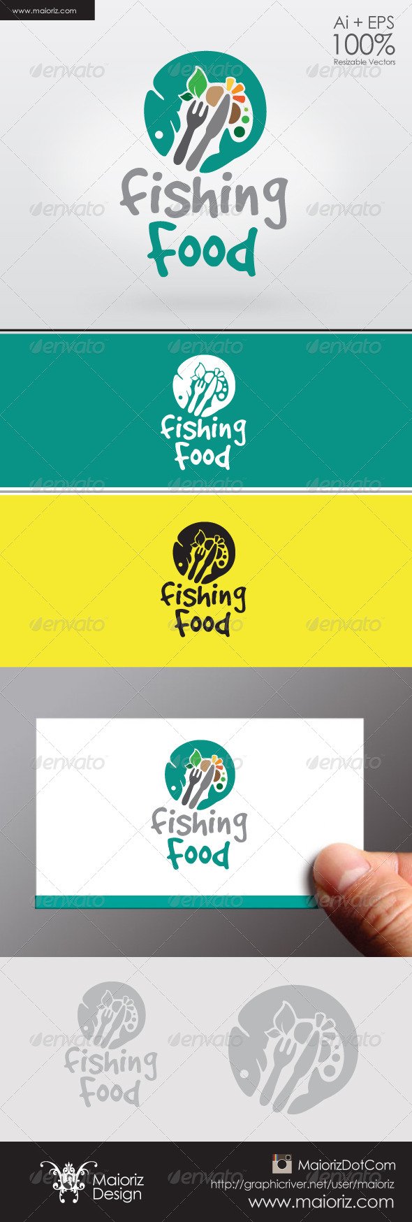 Fishing Food Logo