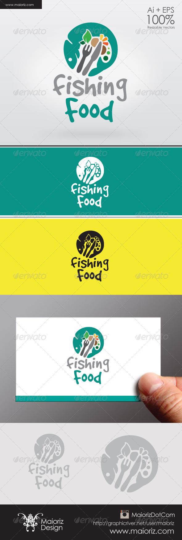 GraphicRiver Fishing Food Logo 6322234