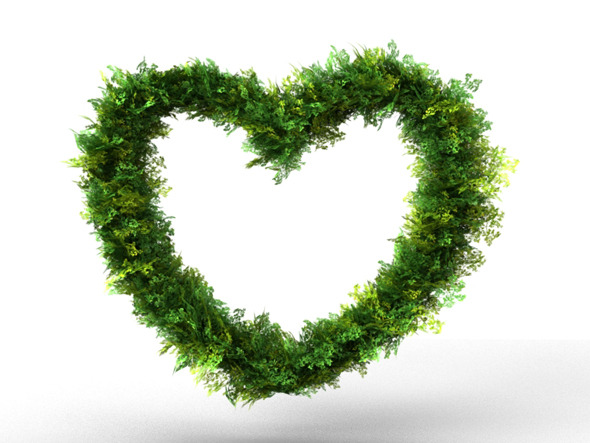 3DOcean Heart Bush Decoration 6322411