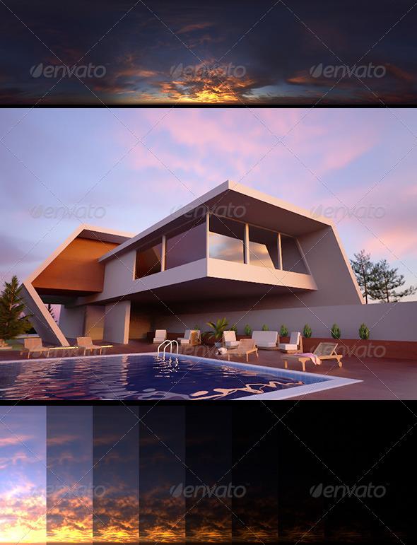 Realsky HDRI Sunset 1710